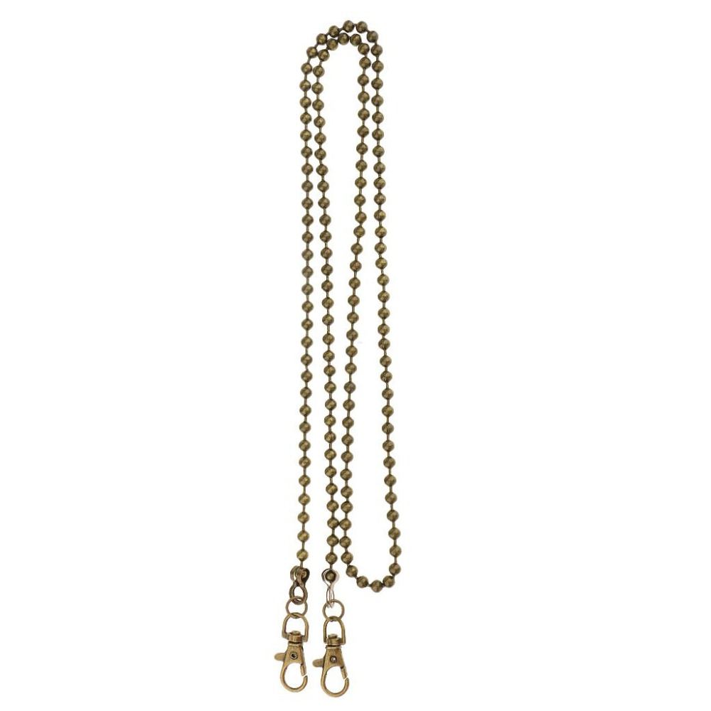 120cm Straps For Bags Shoulder Handbag Bead Chains DIY Belt Hardware For Handbags Strap Silver Metal Replacement Bag Accessories in Bag Parts Accessories from Luggage Bags