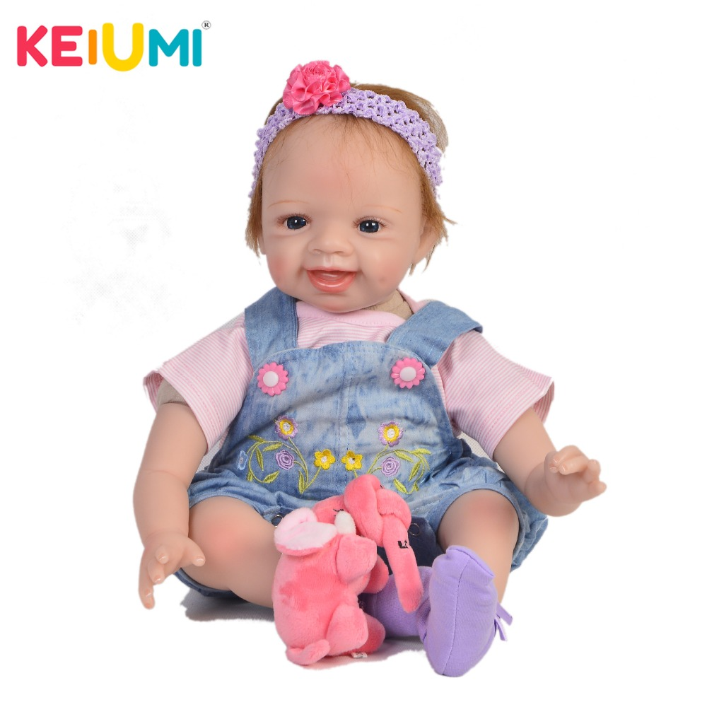 KEIUMI Hot Sale 22 Inch Newborn Baby Doll Cloth Body Realistic Lovely Baby Doll Toy For Children's Day Kid Christmas Xmas Gifts keiumi real 22 inch newborn baby doll cloth body realistic lovely baby doll toy for children s day kid christmas xmas gifts