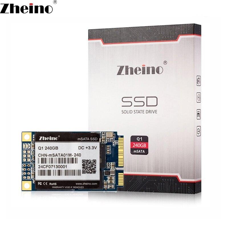 Zheino Q1 3 mSATA 240 GB SSD SATA3 6 GB/S internal Solid State unidade 2D MLC Flash Dispositivos de Armazenamento do Disco Rígido para Tablet PC Laptop