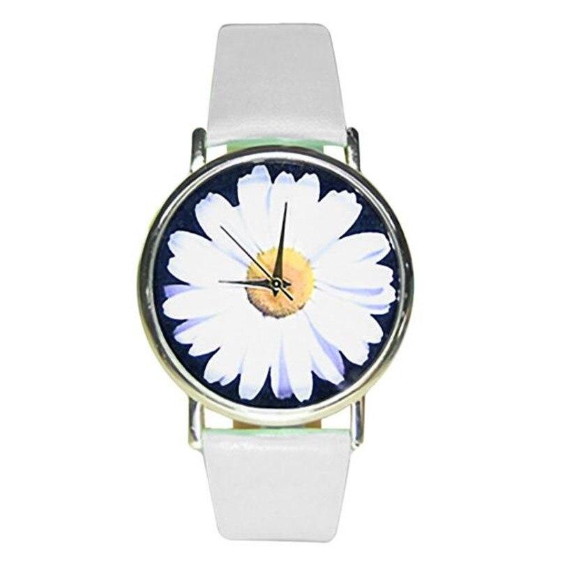 Ladies Flower Cloth WristWatch Fashion font b Women b font Dress font b Watch b font