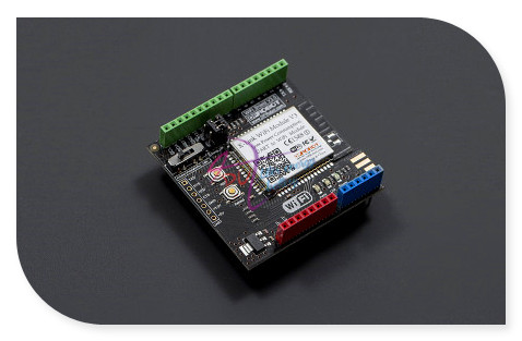 ФОТО DFRobot WiFi Shield/module V3 with PCB Antenna, 5V 802.11b/g/n 2.4~2.497G 54Mbps supports AP + STA dual-mode for arduino etc.