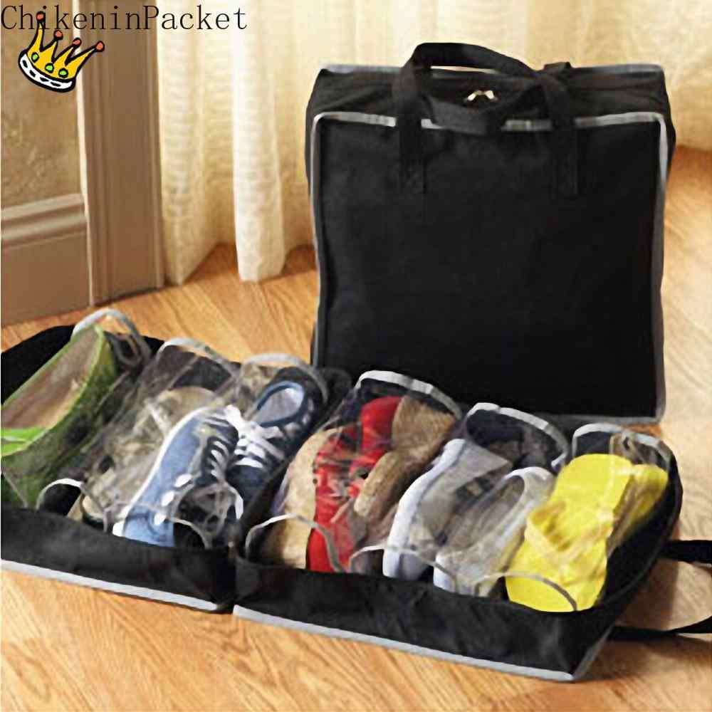 ChikeninPacket Shoes Travel Storage Bag Organizer Tote Luggage Carry Pouch Holder