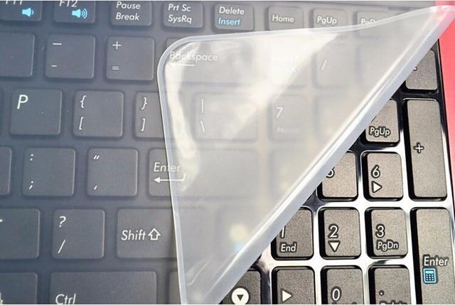 Impermeabile Tastiera Del Computer Portatile pellicola protettiva copertura della tastiera del computer portatile 15 15.6 17 14 notebook copertura della Tastiera antipolvere in silicone pellicola 4