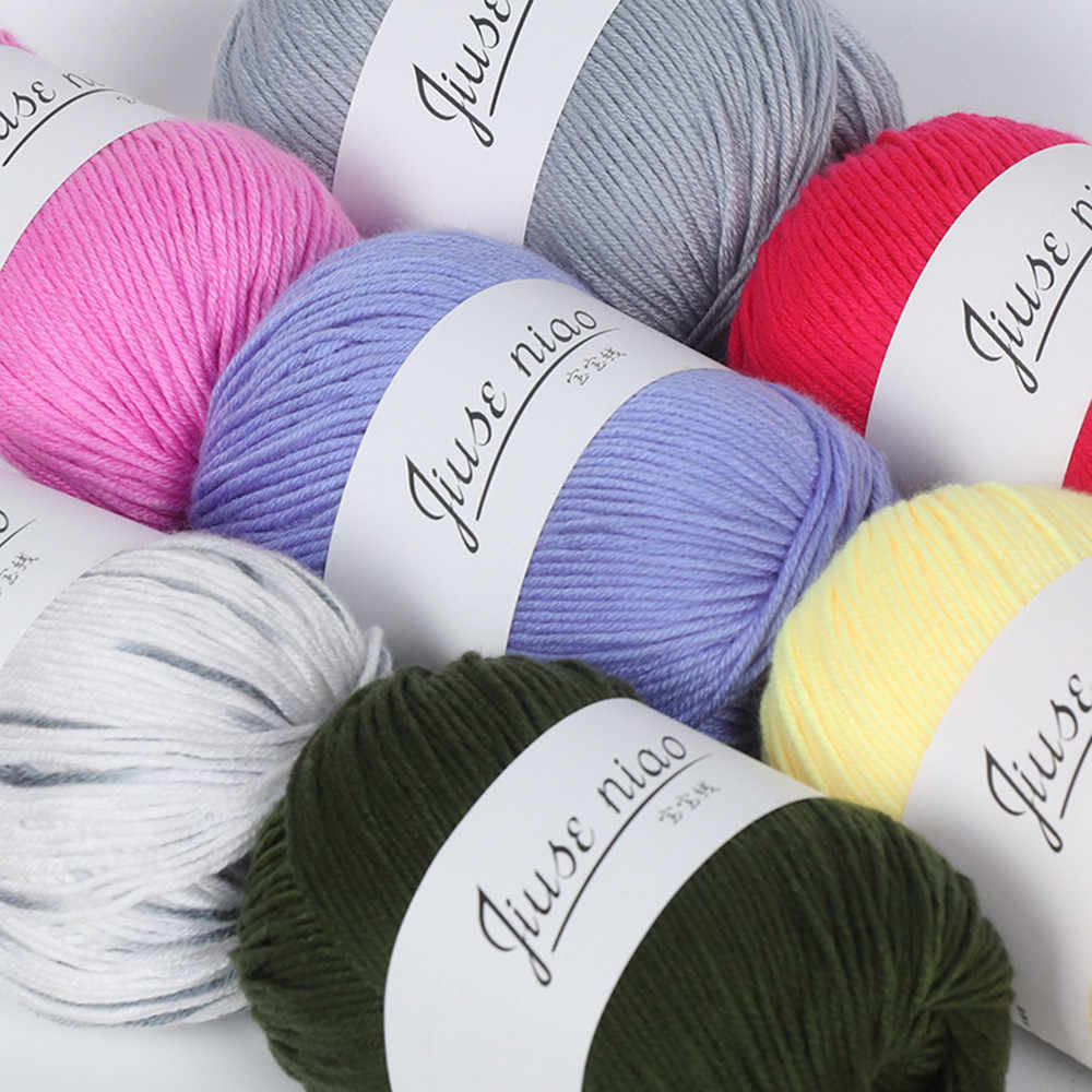 50 g/pc colorido macio bebê leite fibra de algodão fio lã veludo crochê para a mão tricô diy suéter cobertor cachecol 2019
