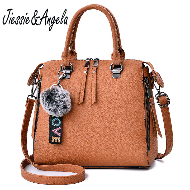 Jiessie & Angela luxury Brand Designer Ladies Tote Bag Leather Handbag Fashion Women Bag Women Shoulder Purse sac a main 2016 women leather handbag women messenger bag sac a main brand designs women shoulder bag fashion weaving tote bag purse 3 sets