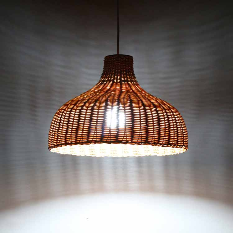 Contemporary Rattan Hanging Pendant Light Country Hand Woven Wicker Drop Home Lighting Pendant Lamp Restaurant Cafe Shop Bar Pendant Light (22)