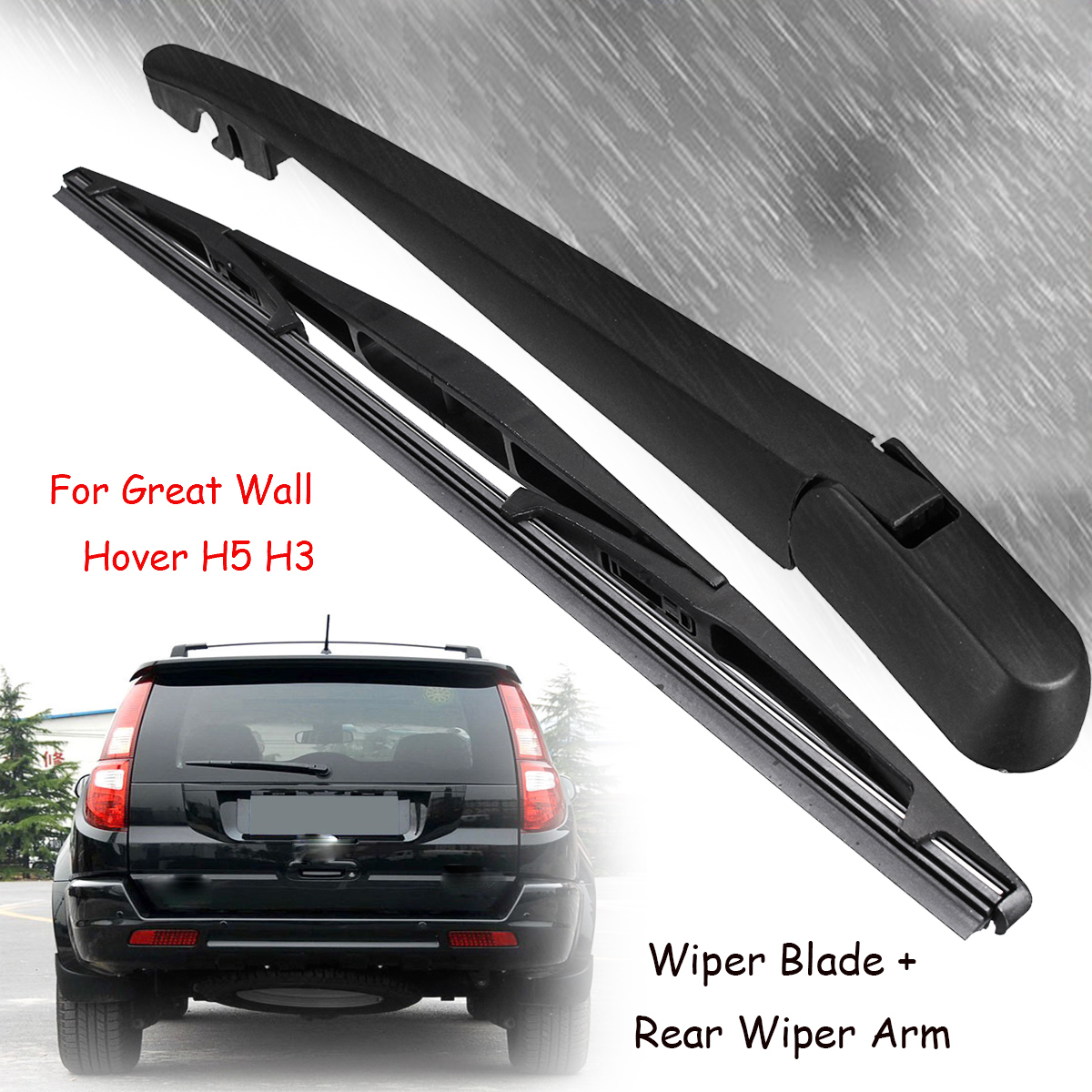 Car Windscreen Rear Wiper Blade Windshield Wiper Arm Blades For Great Wall Hover H5 H3 Car Accessories(China)