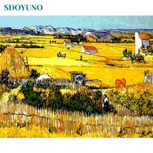 SDOYUNO Harvest field Landscape Frameless DIY Gift Painting By Numbers Home Decor pictures by numbers Wall Art Bedroom