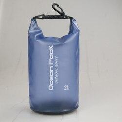 Heißer Verkauf 2L PVC Wasserdichte Dry Bag Outdoor Sport Schwimmen Rafting Kajakfahren Segeln Tasche