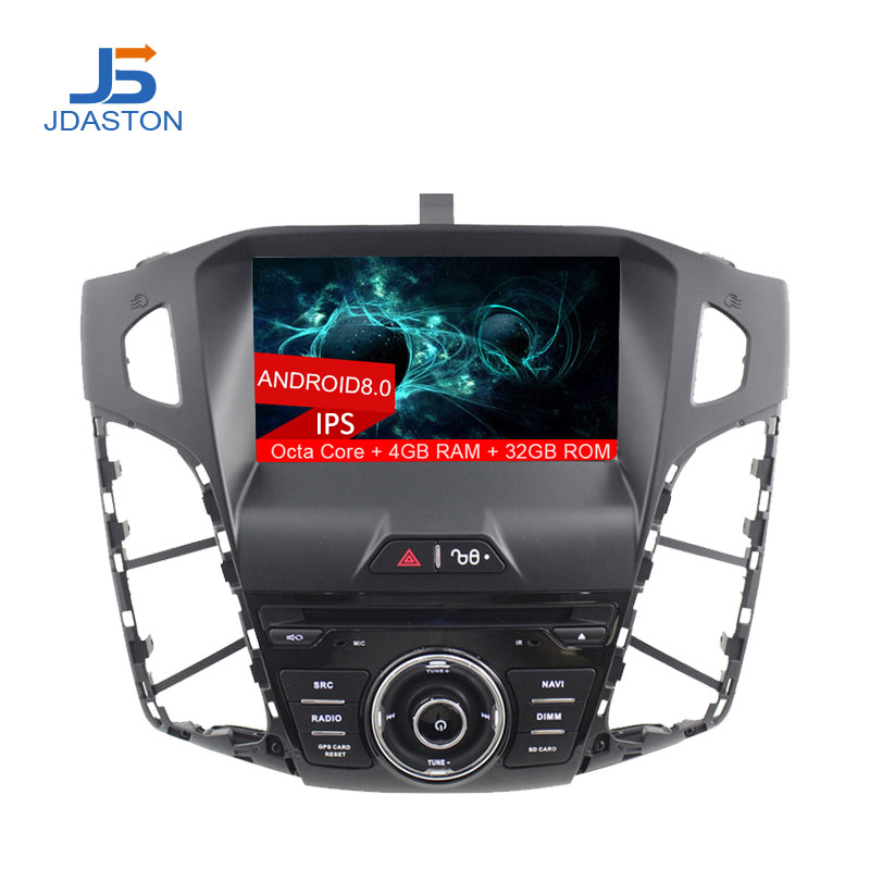 JDASTON Android 8.0 Car DVD Player For FORD FOCUS 2011 2012 2013 2014 2015 2016 Car GPS Radio Stereo Multimedia 4G+32G Octa Core for ford focus 3 2012 2013 2014 2015 car android unit 1 din dvd radio stereo audio multimedia video music player gps navigation