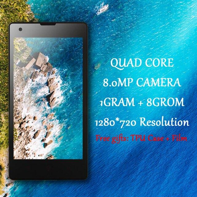 "Original Smartphones Quad core mobile phones 8.0MP+2.0MP cheap Android Phone unlocked cell 1GRAM+8GROM celular 1280*720 4.7"" HD"
