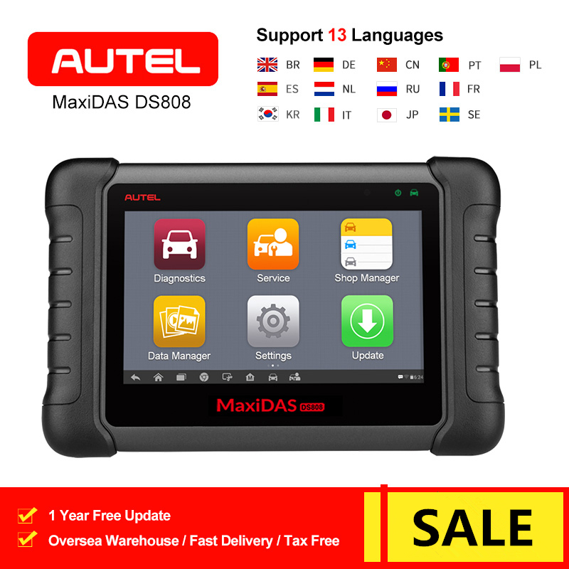 Autel MaxiDAS DS808 All System Car Diagnostic Tool Auto OBD OBD2 Code Reader Scanner Oil Reset