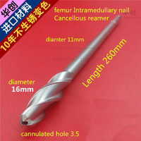Medical Orthopedic Instrument Tibia Femur PFNA Intramedullary Nail Cancellous Cannulated Reamer 3 5 Hole Expand Hollow