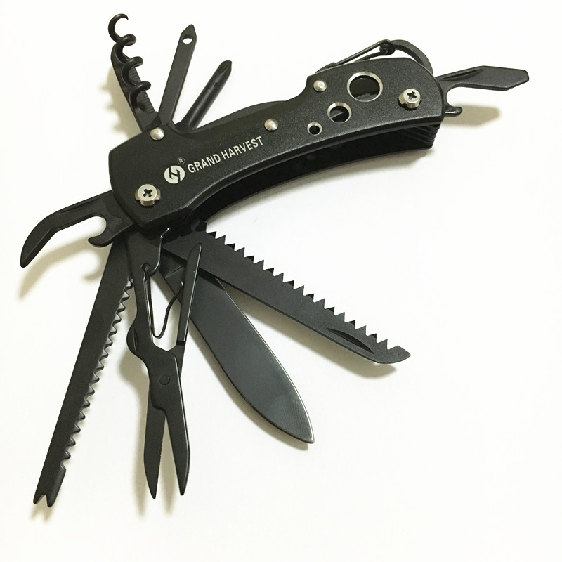 10 Pcs Lot Titanium Black Multifunctional Swiss Knife