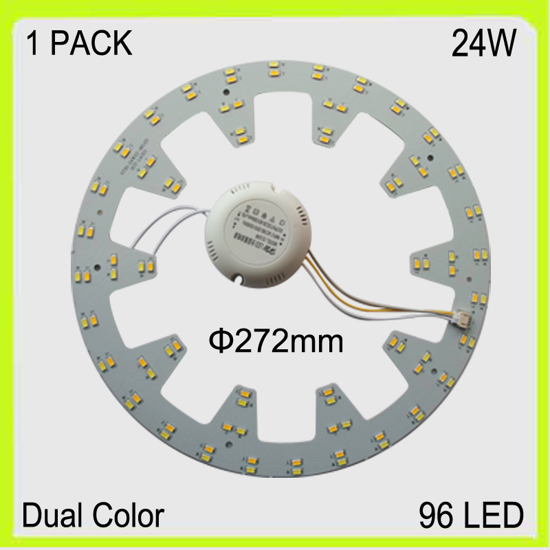 Producent runde 24W LED plade pcbs led bord DUAL COLOR varm kold hvid 2300lm dia272MM cirkulær techo LED 220V 230V 240V