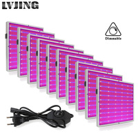 10Pcs/Lot 200W LED Growth Lamp AC85 265V Dimmable Grow Light Led Panel For Indoor Plant Flowers Seedings Hydroponics Grow Tent
