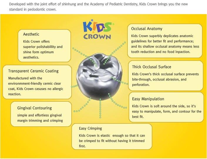 Korea Kids Crown/Shinhung deciduous tooth Kids Crown stainless steel /aesthetic Kids Crown