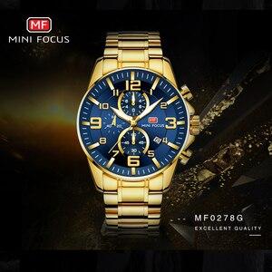 Image 2 - Mini foco real dos homens relógios marca superior de luxo militar quartzo à prova dwaterproof água cronógrafo aço inoxidável cinta relogio masculino