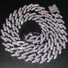 99ec09567b1d 14mm Miami Cuba frenar las cadenas de collar para hombres de plata de oro