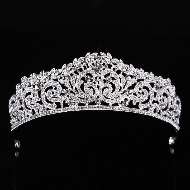 Headband Headpiece Hair-Accessories Wedding-Tiara Crown-Queen Bridal Women