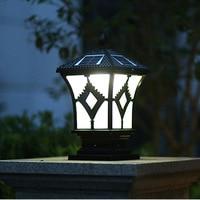 Solar column lamp lantern garden garden door post lighting LED landscape lamp