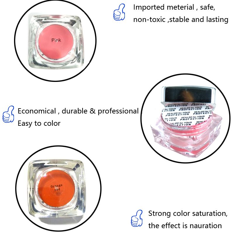 Image 5 - Permanent Makeup Tattoo Pigment 2Pcs PCD Eyebrow Lip Microblading Tattoo Ink Set Embroidery Beauty for Manual Pen Tattoo Supply-in Tattoo accesories from Beauty & Health