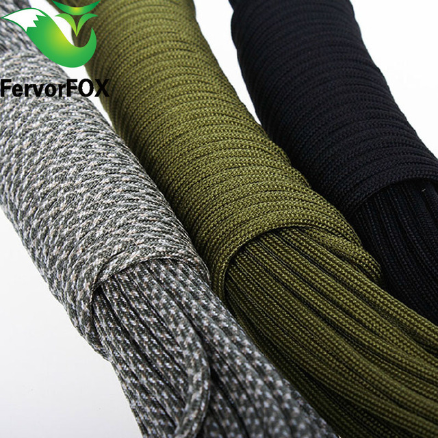 5 Meters  Dia.4mm 7 stand Cores Paracord for Survival Parachute Cord Lanyard Camping Climbing Camping Rope Hiking Clothesline