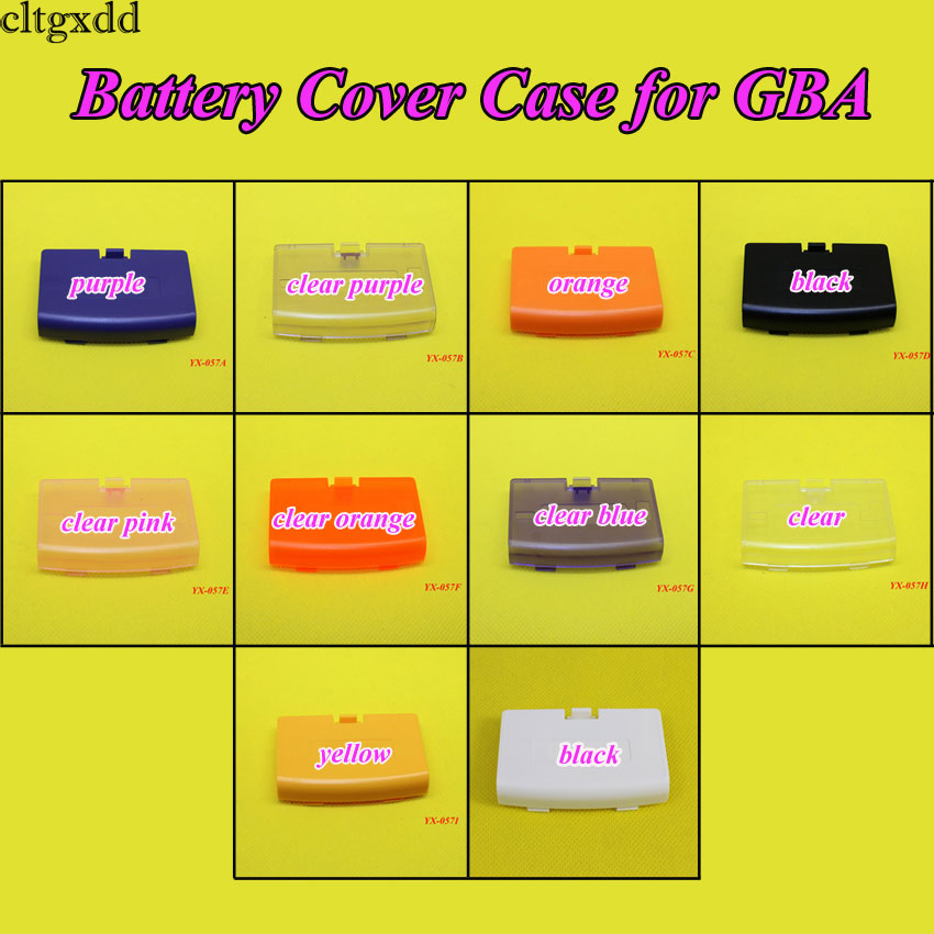 cltgxdd 10color to choose For Gameboy Advance Replacement <font><b>Battery</b></font> Cover Lid Door for <font><b>GBA</b></font> Back Door Case