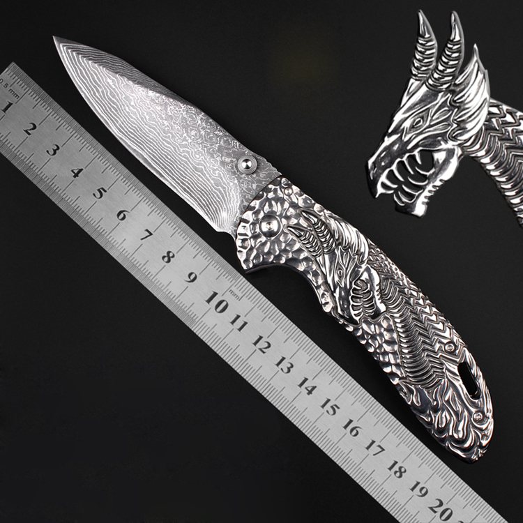 JUFULE Original Silver Dragon folding kitchen camp hunting pocket Survival EDC tool fruit Tactical outdoor Utility kitchen knife women wristwatch women crystal rhinestone butterfly bracelet quartz watch wristwatch aug 23