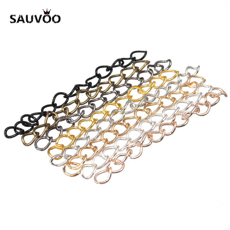 100pcs/pack 50x3mm Silver Color Metal Bulk Tail Chains Extended Extension Chain for Bracelets Necklace DIY Jewelry Making F1620 5 meters 2 3mm 3 4mm metal necklace chains bulk fit bracelets necklace chain silver color link chain for diy jewelry making z821
