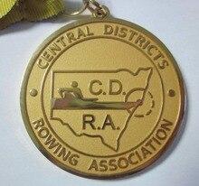 Manufacturer custom gold medal free design round k200176