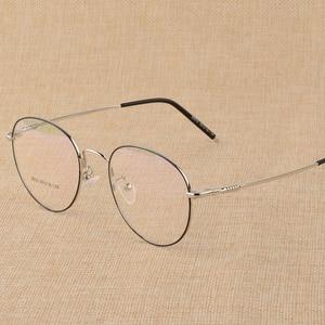 Image 5 - BCLEAR חדש זיכרון טיטניום סגסוגת רטרו Eyelasses מסגרת אישיות יוניסקס קוצר ראיה מסגרת ספרותי שטוח מחזה משקפיים גברים נשים
