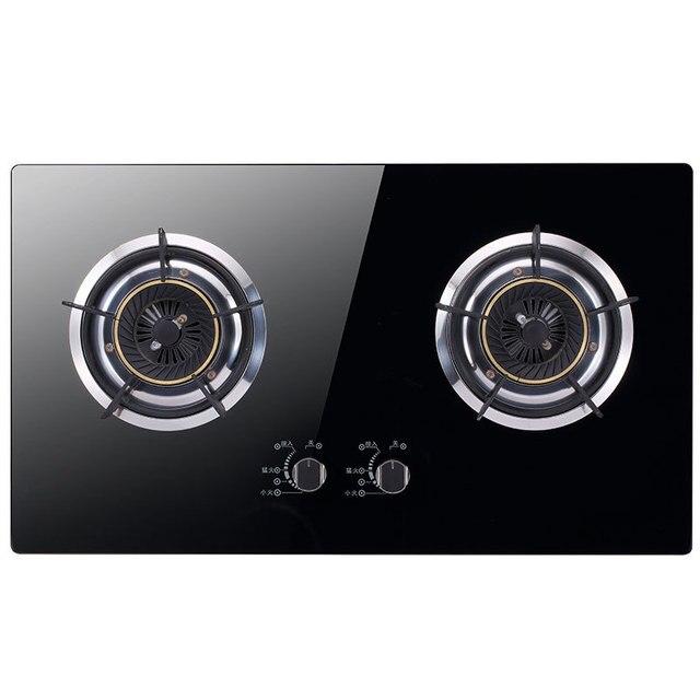 Dual herd Bulit in Gas kochfelder Intensive Feuer Rühren fly Wasser Kochendem Kochfeld Kristall Panel Küche Appliance reicht Einfache Reinigung-in Eingebaute Induktionsherde aus Haushaltsgeräte bei