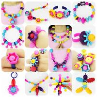 500 300 150pcs Pop Beads Children Cordless Snap Together Toy Jewelry Necklace Ring Bracelet Making Kit