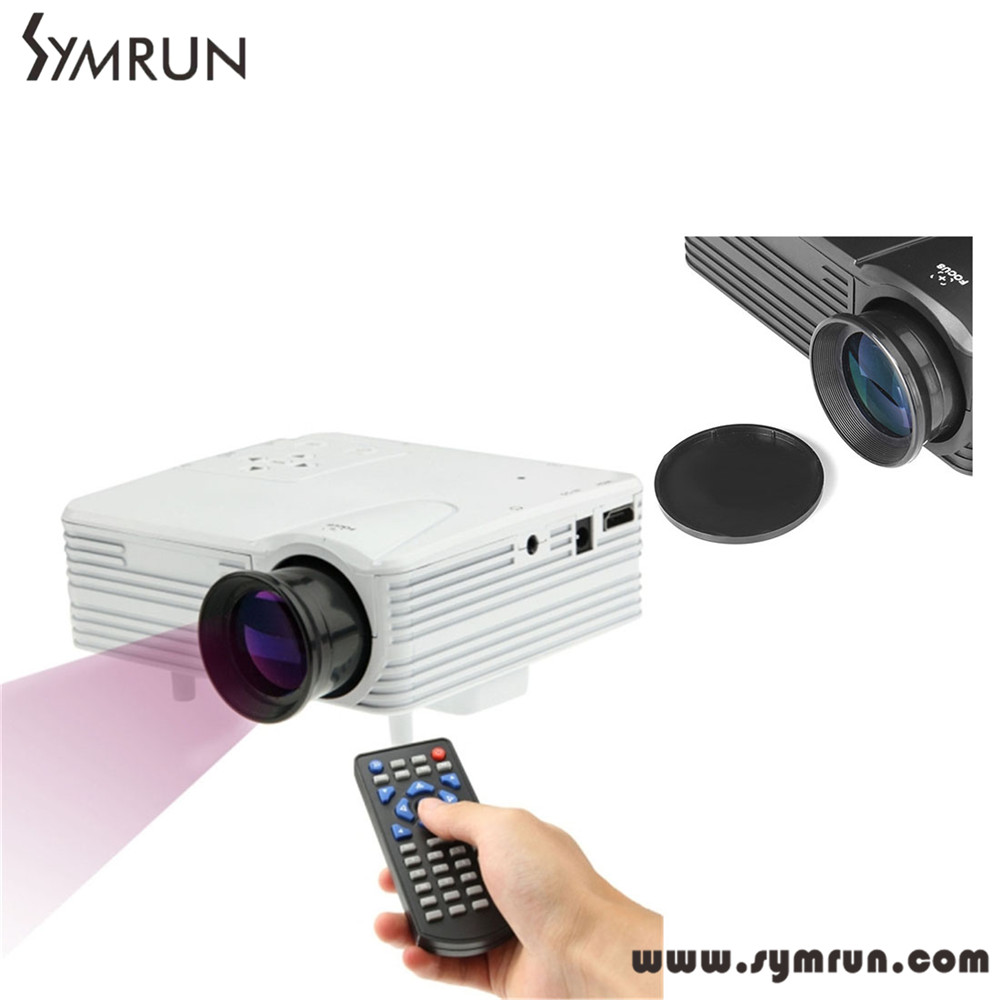H80 640x480 Pixels Full HD 1080P Mini LED Single TFT-LCD Multimedia Projector Home Theater 30W Ultra-low power Support USB HDMI