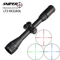 Hunting RifleScope Sniper LT 3 9X32 AOL 1 inch Full Size Tactical Optical Sight Illuminate Mil Dot Locking Resetting Rifle Scope