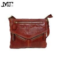 MJ Brand Design Soft Genuine Leather Women Messenger Bags Real Leather Crossbody Shoulder Bag Small Handbags Phone Bag for Girls