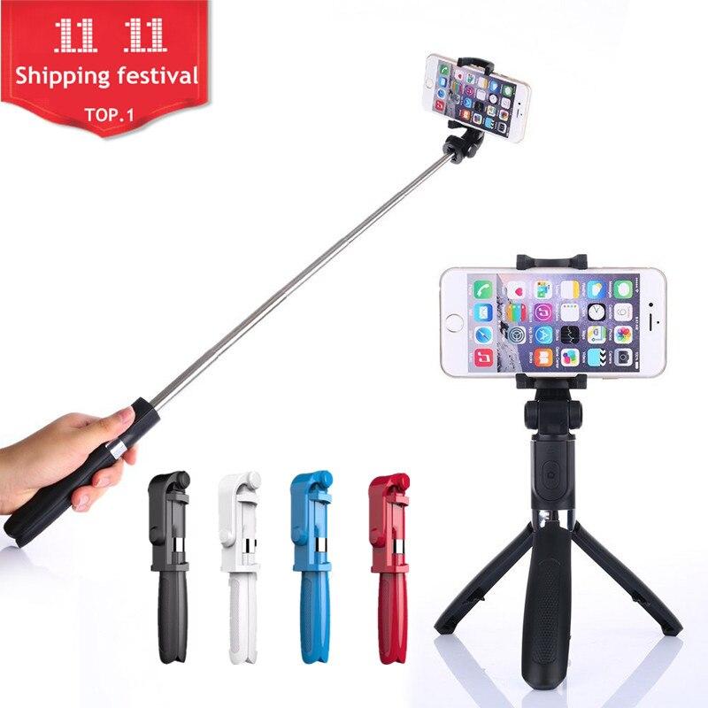 FGHGF Trépied Manfrotto Selfie Bâton Bluetooth Avec Bouton Pau De Palo selfie bâton pour iphone 6 7 8 plus Android bâton
