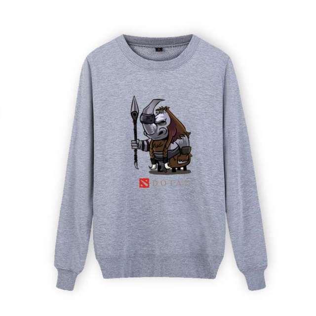 Trendy Dota 2 Design XXL Black Cotton Sweatshirt with Hoodies Men 2016 Brand in Mens Hoodies and Sweatshirts 3XL xxs Gray White