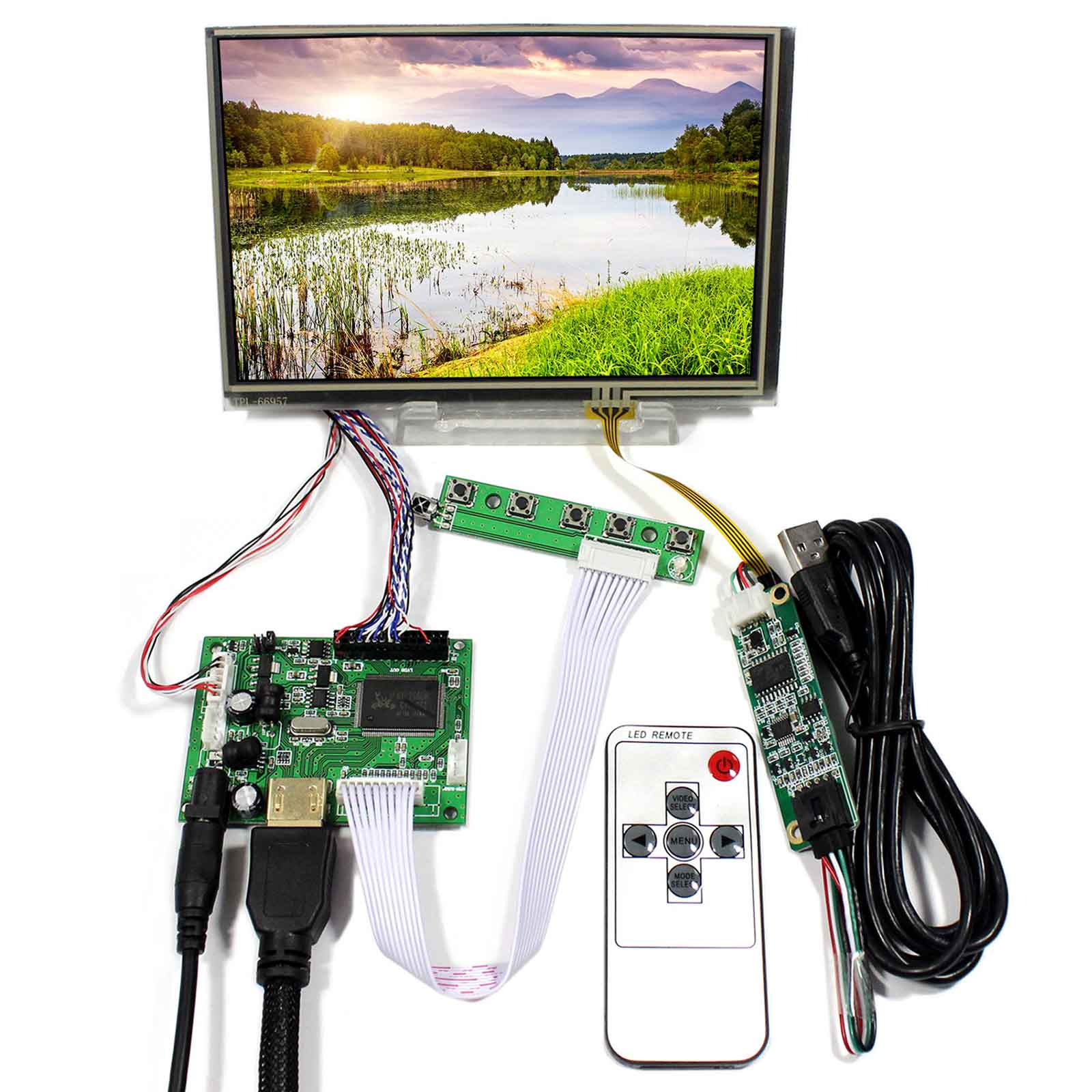 """HDMI LCD Controller Board Mit 7 """"1280x800 N070ICG-LD1 IPS LCD Mit Touch Screen"""