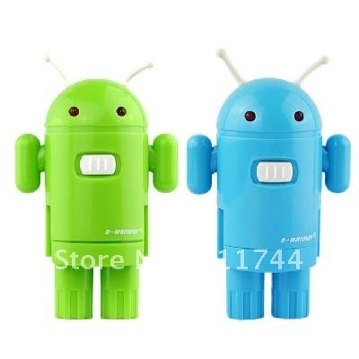 Free shipping/Android Shaped AC to USB Power Charger Adapter Plug for iPod iPhone MP3 (EU Plug)