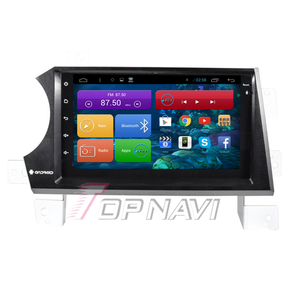 Top Free Shipping 7'' Quad Core Android 4.4 Car GPS for Ssangyong Kyron With Audio Radio Stereo Free Map Wifi BT Without DVD