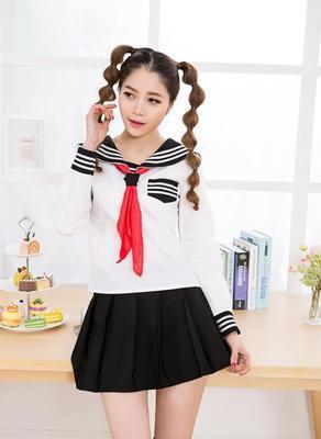 COS HELL GIRL Tela infierno joven marinero moda estilo preppy uniforme conjunto uniforme de la escuela de secundaria de la escuela de secundaria
