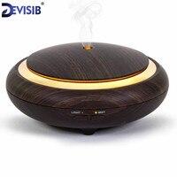 USB Ultrasonic Humidifier Aromatherapy 130ML Mini Portable Mist Maker Aroma Essential Oil Light Wooden Diffuser Free