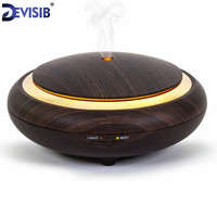 USB Ultrasonic Humidifier Aromatherapy 130ML Mini Portable Mist Maker Aroma Essential Oil Light Wooden Diffuser Free
