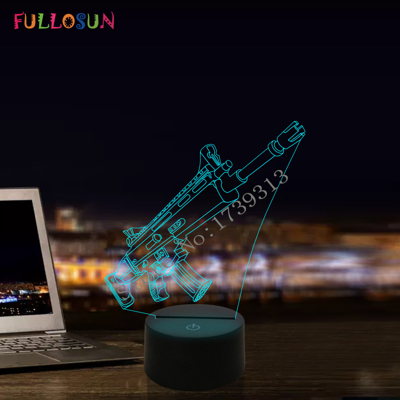 3D Illusion Desk Lamp 7 Color 3D Lamp Kids Gift Touch Night Light for Children Holiday Present