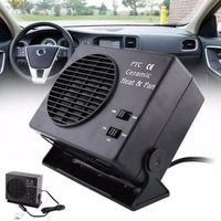 New 1 Pc DC 12V Vehicle Car Portable 2 in 1 Electric Fan and Heater 300W Defroster Demister Quick Heating Speed Car Accessories