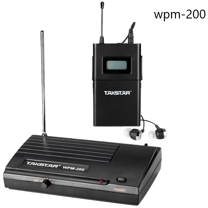 Takstar wpm 200 wpm 200 Wireless Recording studio Monitor System In Ear UHF Wireless Headset Transmitter