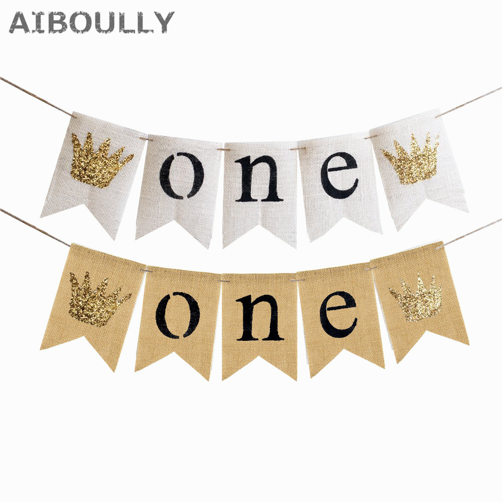 Baby first birthday banner one year 1st birthday bunting for Baby first tooth decoration