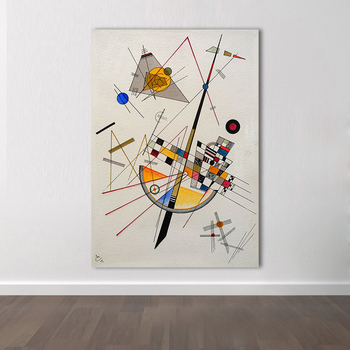 Handmade Wassily Kandinsky Geometric Abstract Pictures Wall Paintings Canvas Art Paintings For Living Room Home Decor
